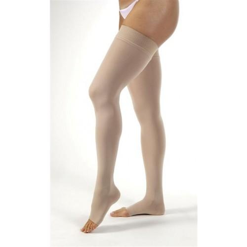 Open Toe Thigh High Compression Socks - 20-30 mmHg Support Stockings
