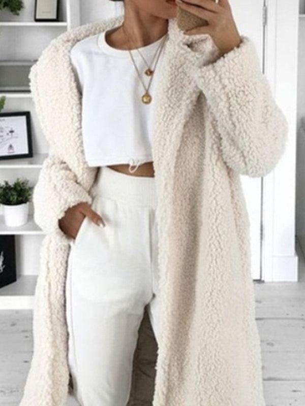 Faux Fur Shawl Collar Teddy Bear Warmest Coats