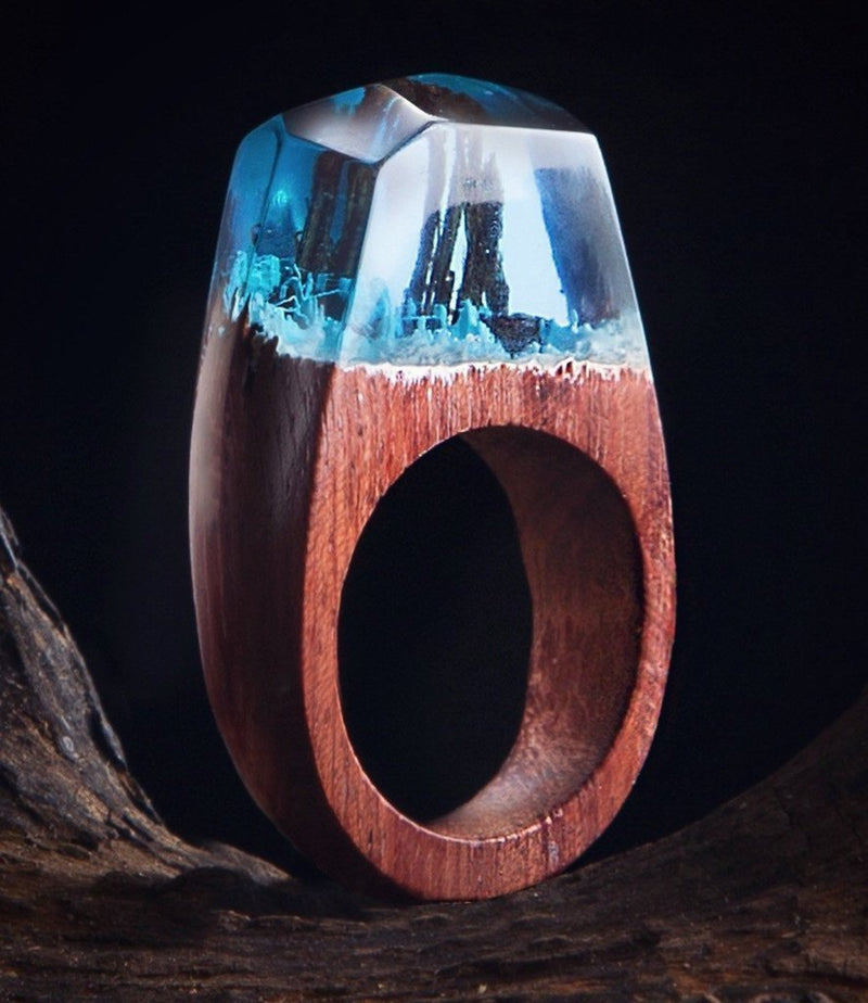 Magic Forest Resin Ring