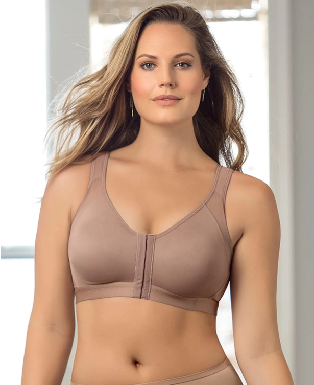 Post Surgery Recovery Bra with Posture Support - Front Closure!