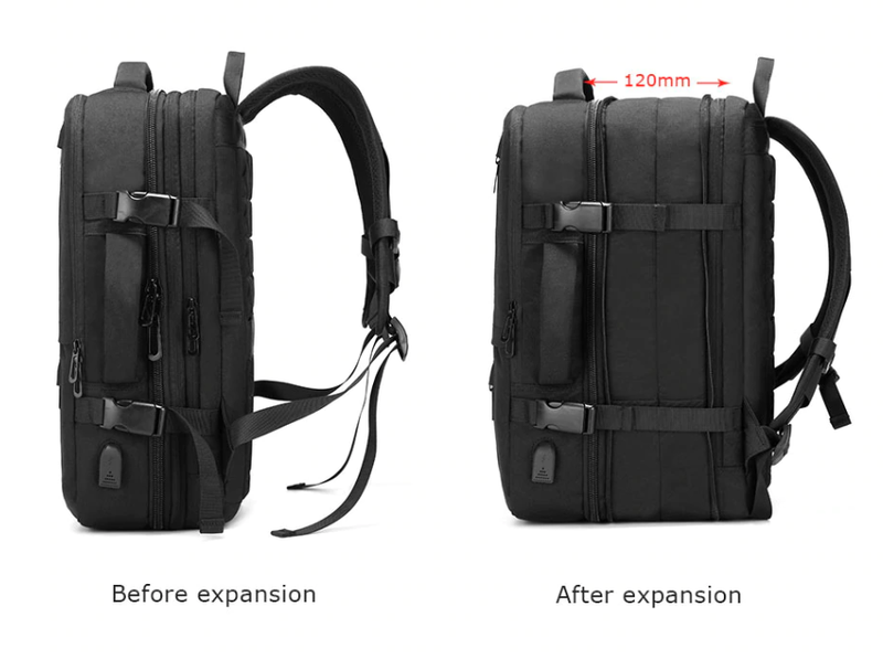 Men's Business Travel Multifunctional Bag with Large Expandable Capacity