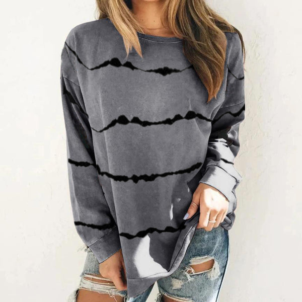 Casual Plus Size Long Sleeve T Shirt Blouse