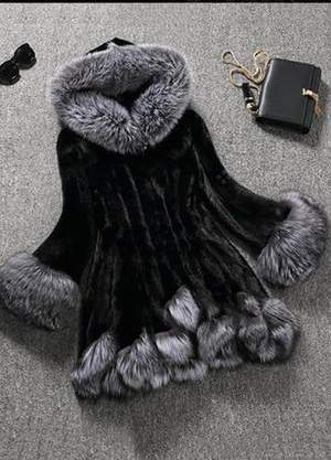 Fur Polyester Long Sleeve Lapel Coats