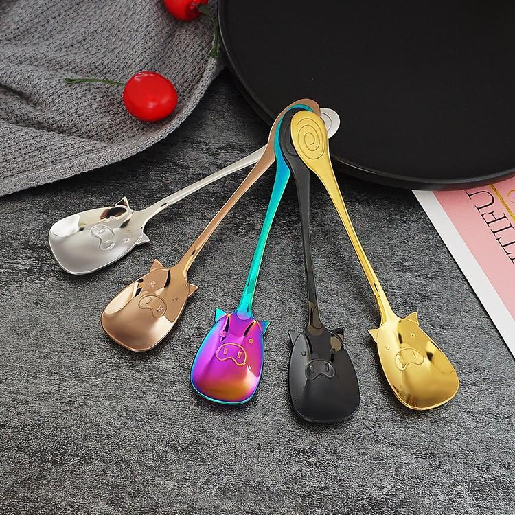 Stainless Steel Piggy Spoons