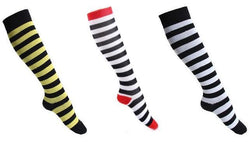 Stripe Compression Socks 20-30 mmHg Support Stockings for Swelling & Energy
