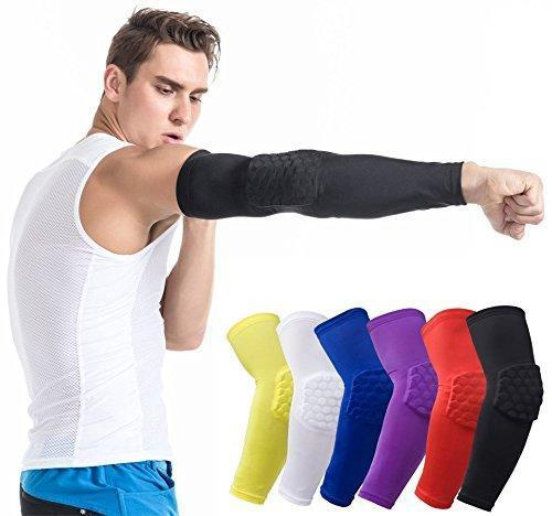 Compression Arm Sleeve Elbow Support HoneyComb Pad