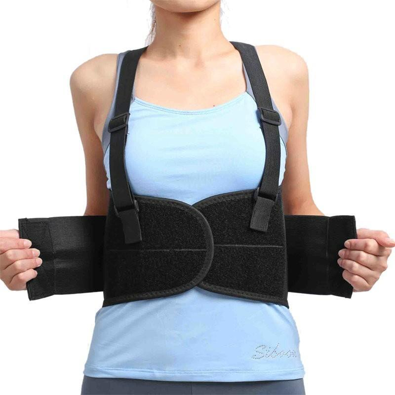 Women's Back Brace with Suspenders - Lumbar Support ~ Improved Posture!
