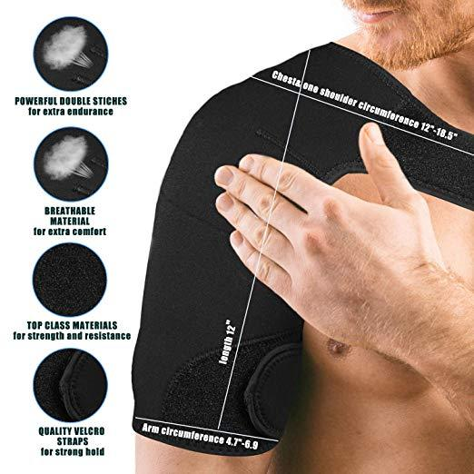 Shoulder Brace Compression Support Sleeve  ~ Relieve Shoulder Pain!