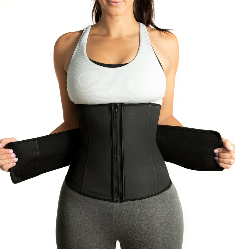 Latex Waist Trainer - Velcro Compression Straps ~ with Supportive Zipper!