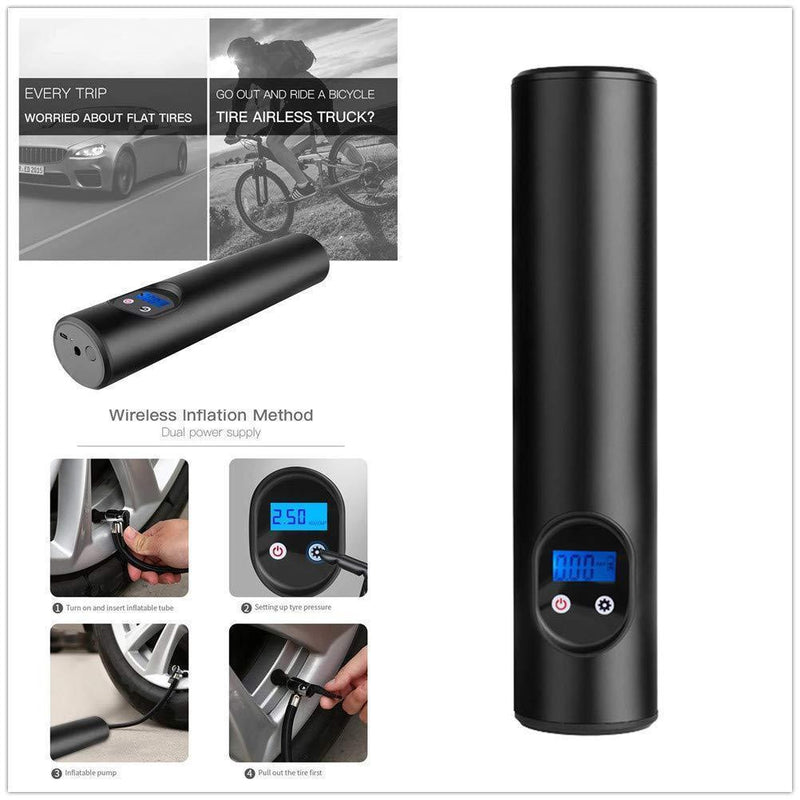 Smart Portable Car Tire Inflator Mini Car/Bike Tire Air Pump 2020 New
