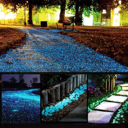 GLOW IN THE DARK GARDEN PEBBLES