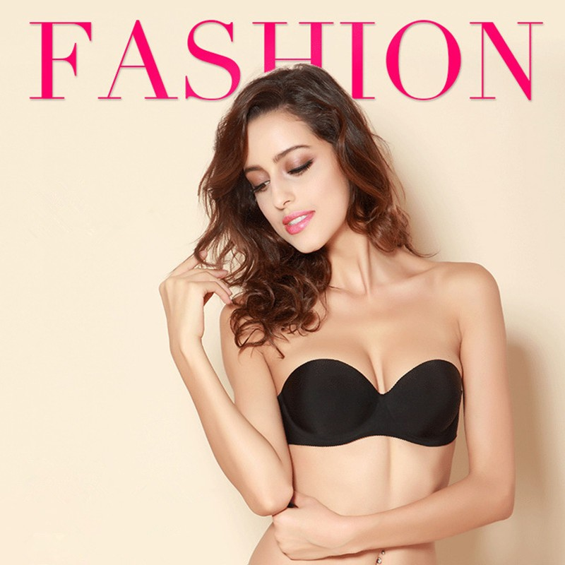 Invisible Strap Seamless Push Up Bra