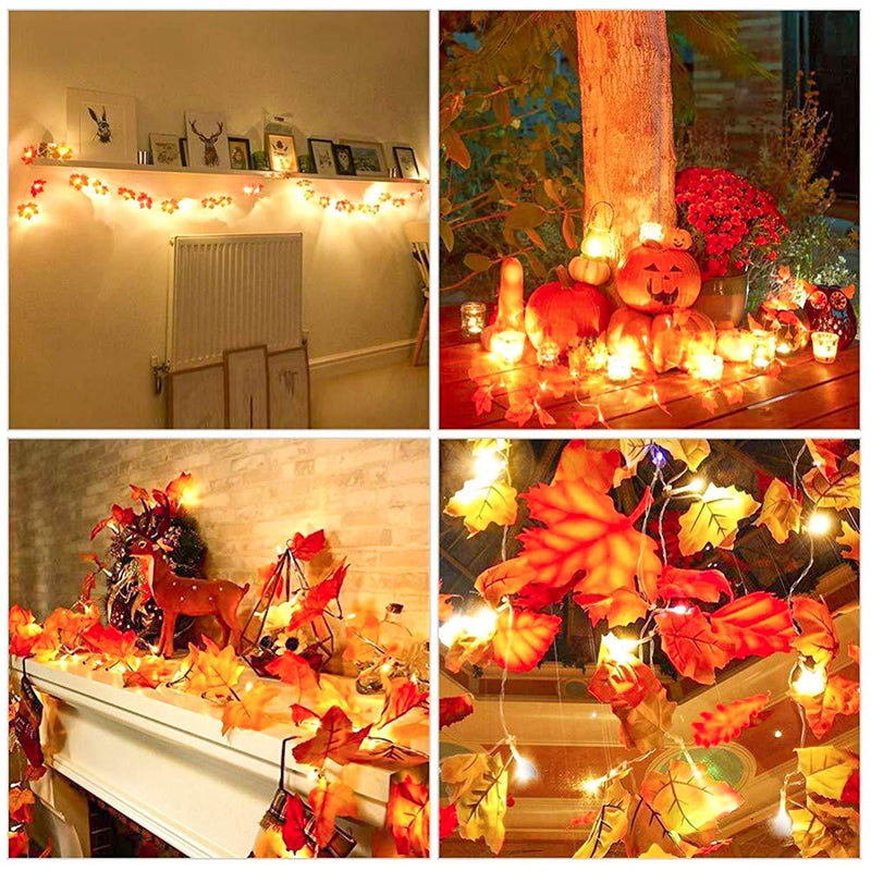 Maple Leaf Lantern - Christmas, Thanksgiving Decoration