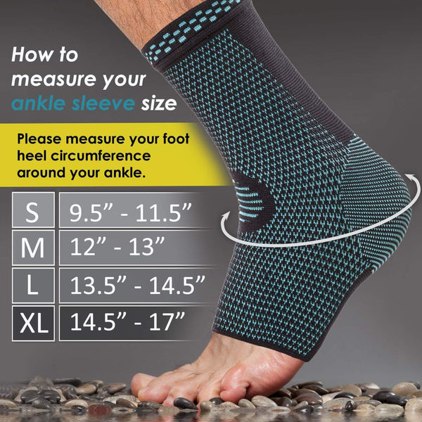 Ankle Brace Compression Support Sleeve (Pair)