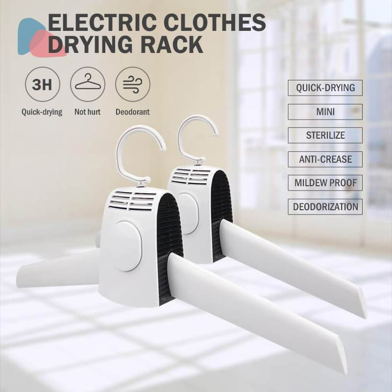 Electric Foldable Clothes Drying Rack Hanger Shoe Dryer Rack