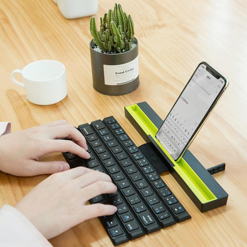 Portable Foldable Bluetooth Keyboard for iPad Pro Mini Air Multi-Function Rollable Bluetooth Keyboard for iPhone Quick to Switch