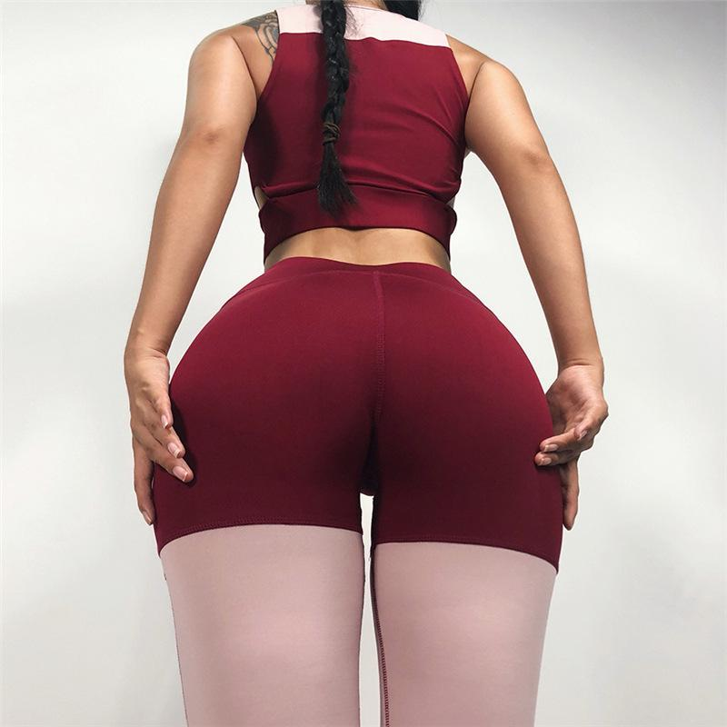 Two-Tone Fitness Push Up Leggings and Top Set