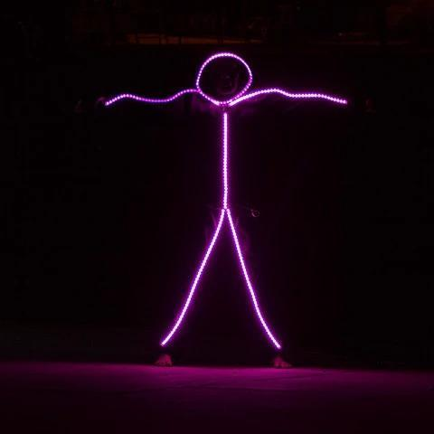 RGB COLOR LIGHT UP LED STICK FIGURE KIT
