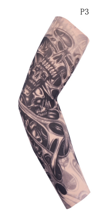 Flower arm tattoo sunscreen sleeve