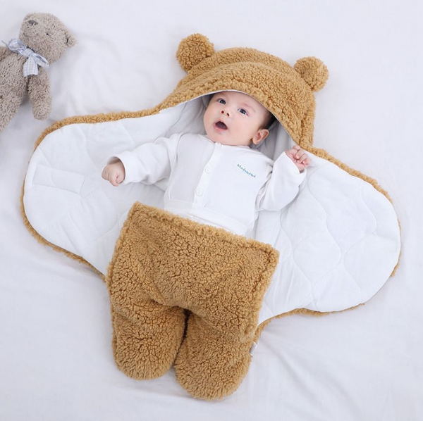 Baby's Sleeping Bag Cartoon Animal Shaped Thicken Double-Layer Comfortable Blanket