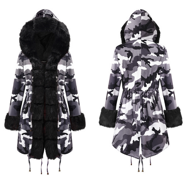 Warm Thick Parka Faux Fur Hooded Coat #2