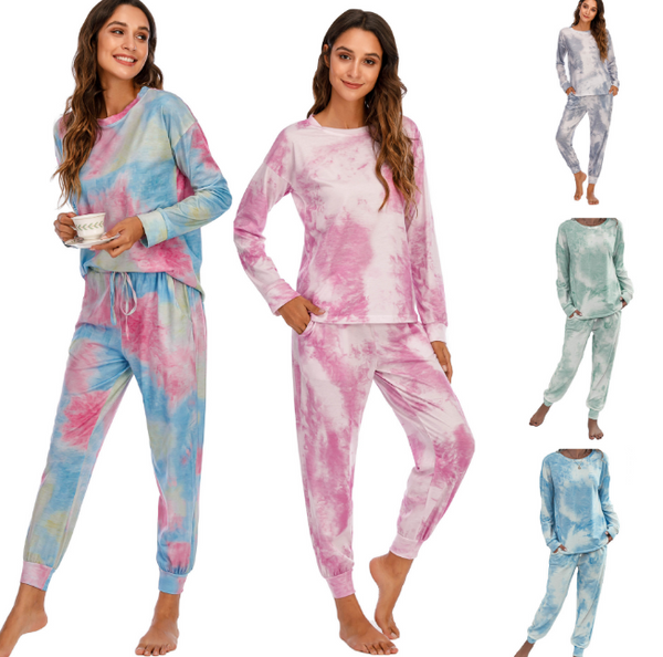 Women's Tie Dye Loungewear Pajama Sets