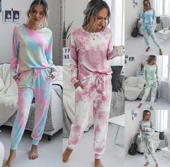 Women's Tie Dye Loungewear Pajama Sets #2