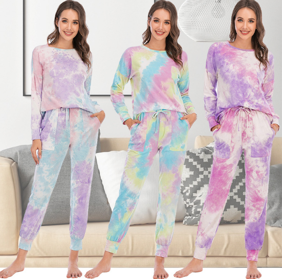 Women's Tie Dye Loungewear Pajama Sets #3