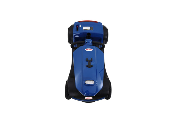 Ultra lightweight 4 wheels electric scooter ewheels mobility scooter with windshield for adults(Blue)