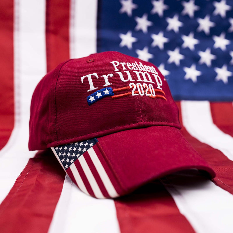 Trump 2020 USA Flag Hat - Republican Red