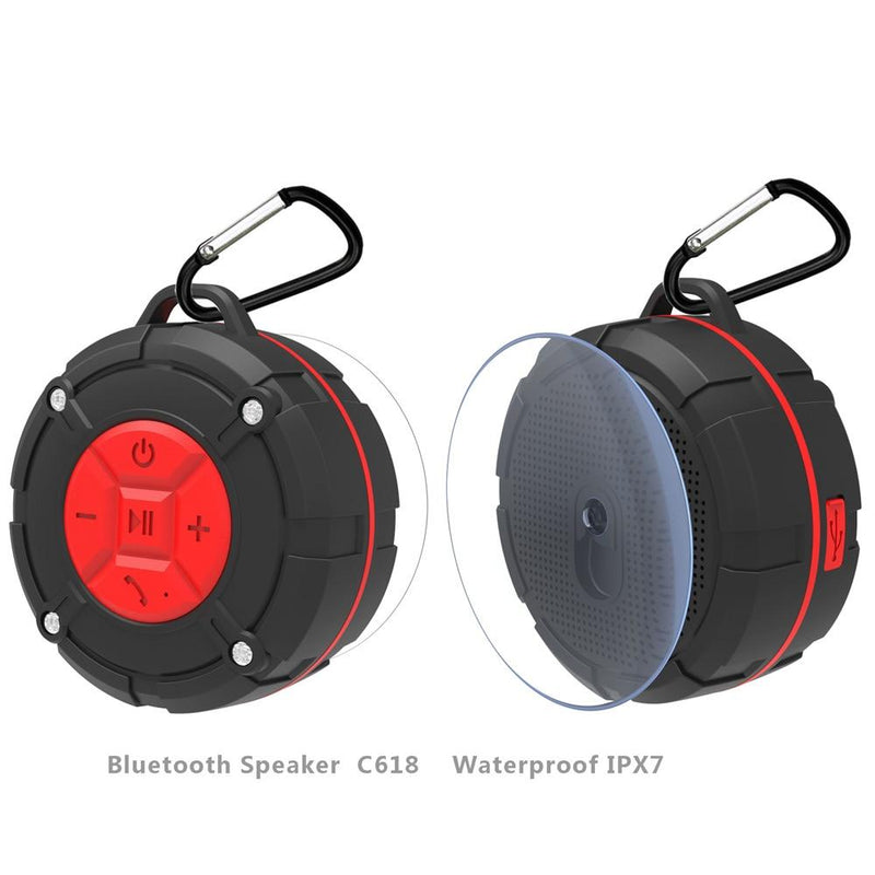 Waterproof Outdoor Bluetooth Speaker IPX7 Portable Wireless Stereo Loudspeaker Shower Bicycle Speakers with Suction Cup