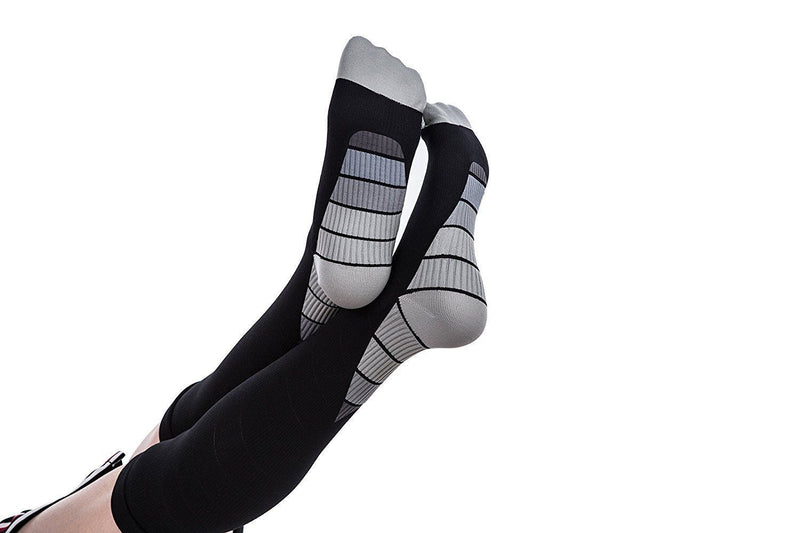 Compression Socks Knee High Athletic Fit Stockings 20-30mmHg Support