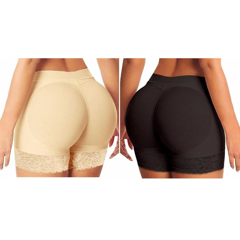Bundle of 2 - Sculpt Butt Lift Padded Panties Black & Beige