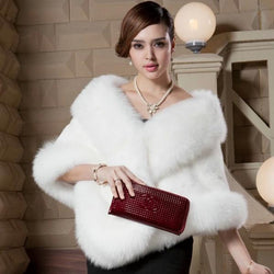 Fox Fur Cape Shawl