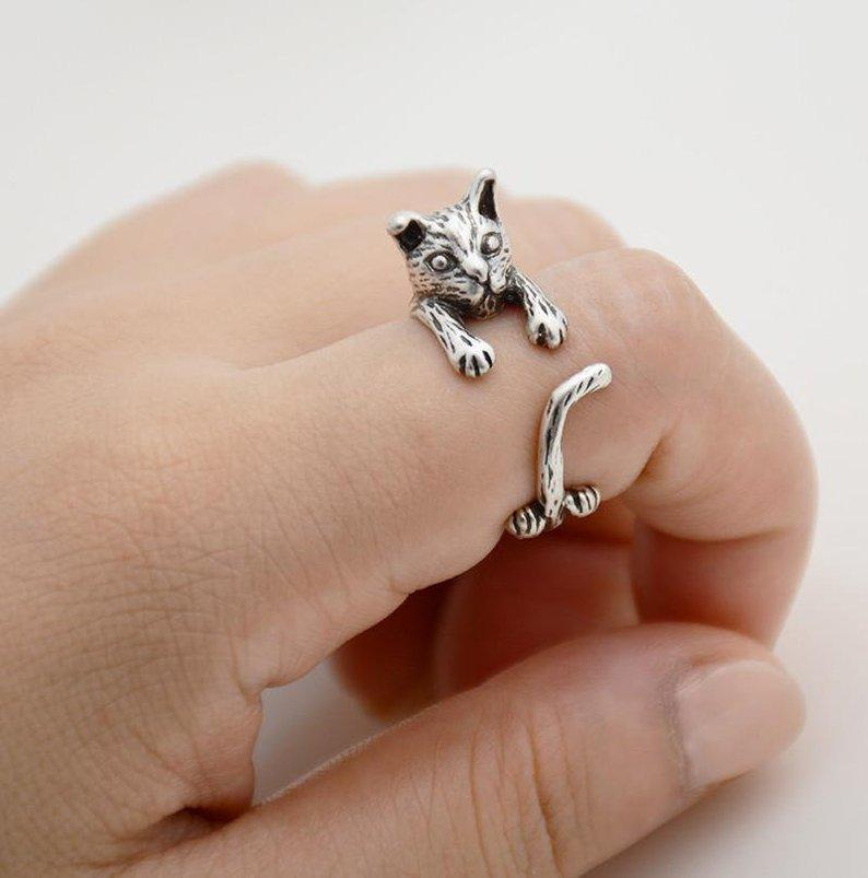 Cat Adjustable Ring
