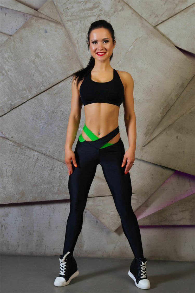 Cross Waist Warrior Push-up Leggings