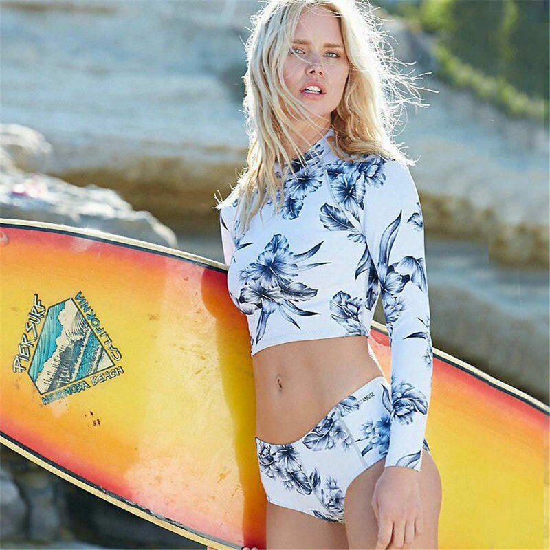 One-Piece Floral Rashguard