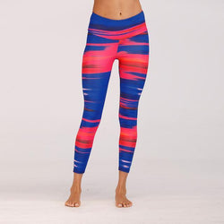 Glamour Striped Print Fitness Leggings