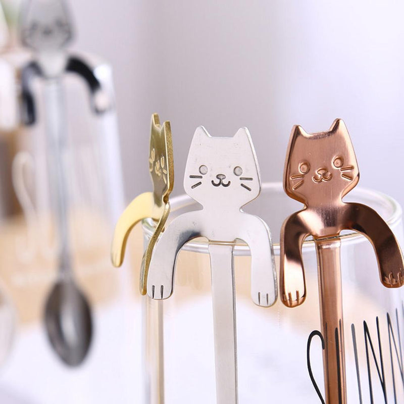 Hanging Cat Teaspoon