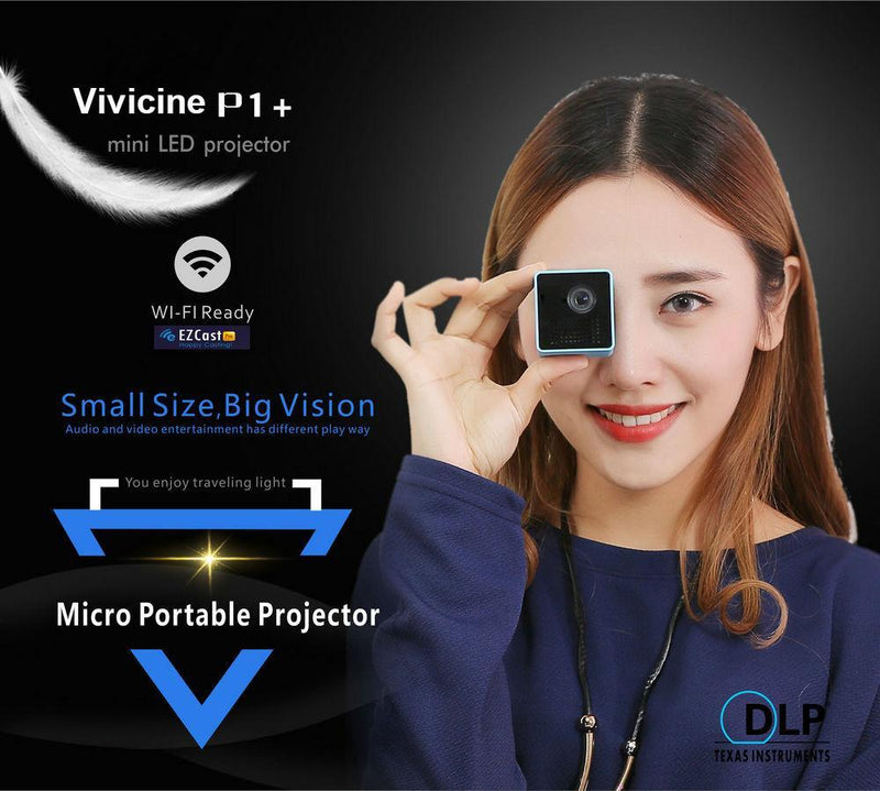 Mini Phone Projector Portable Pocket Wireless LED Projector 1080P