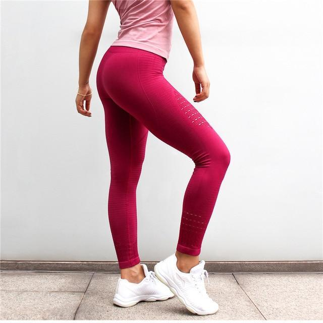 PureGem Designer Seamless MeshFlex Tummy Control Push Up Workout Leggings