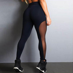Exclusive Black Mesh Push Up Fitness Leggings