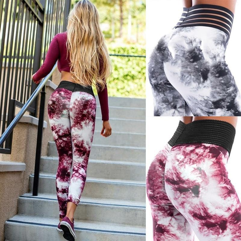 Hollow Moon 3D Print Fitness Leggings