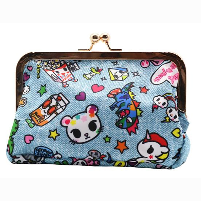 tokidoki Denim Daze Kisslock Coin Purse