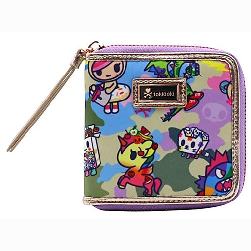 tokidoki Camo Kawaii Small Zip Around Wallet
