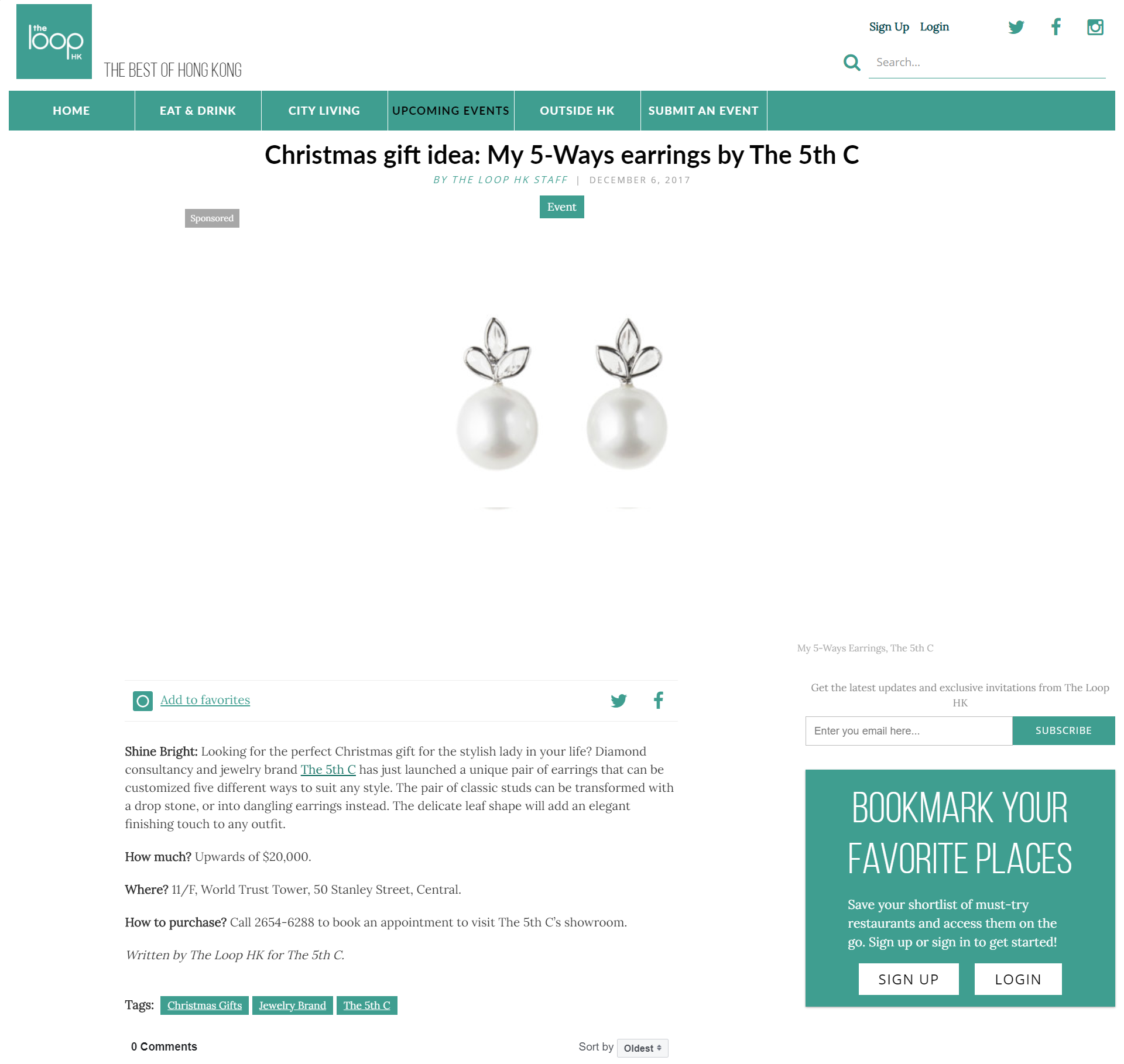 The 5th C_The Loop HK_Christmas gift idea: My 5-Ways earrings by The 5th C