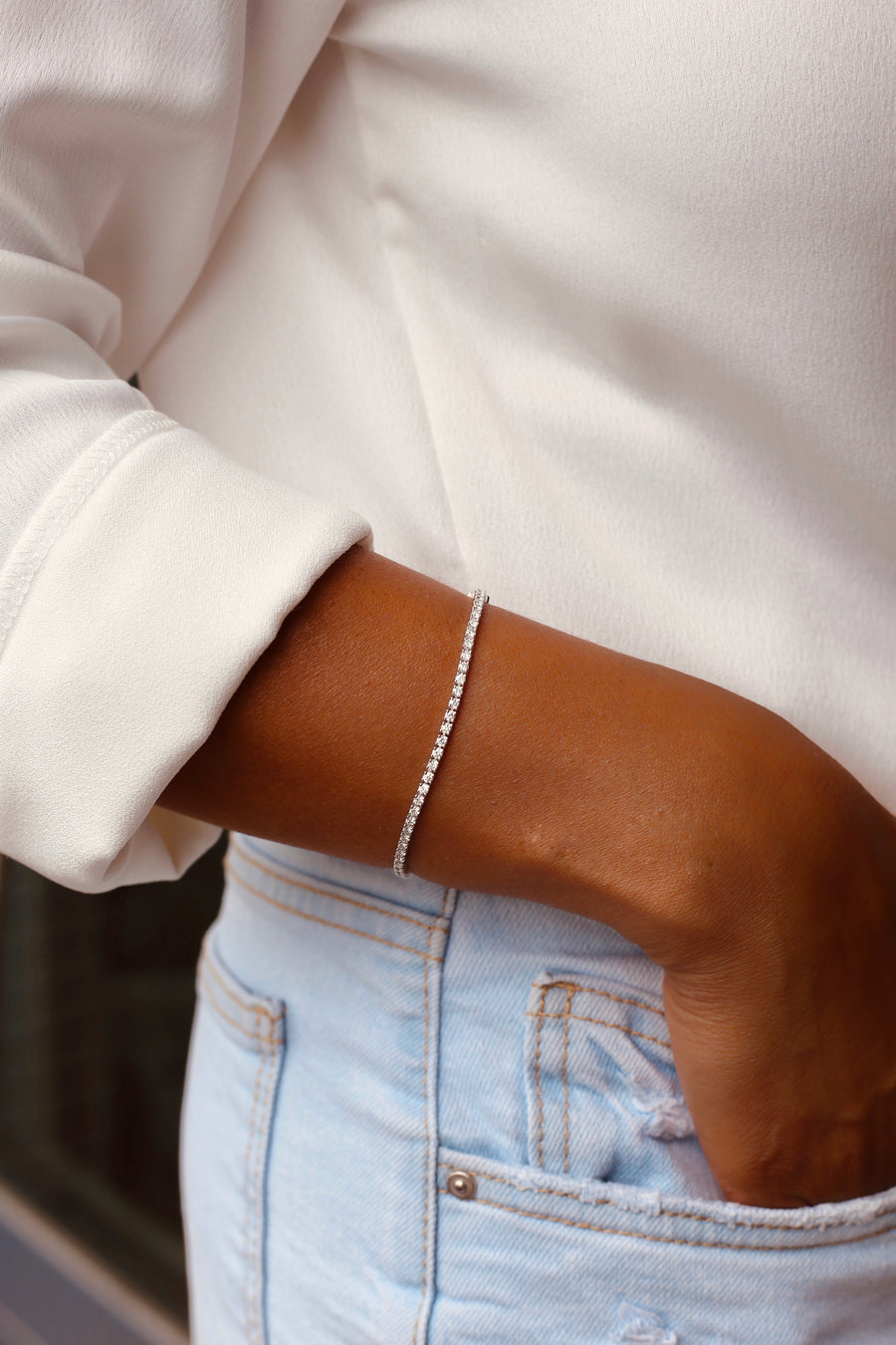ESTELLE White Gold Diamond Bracelet