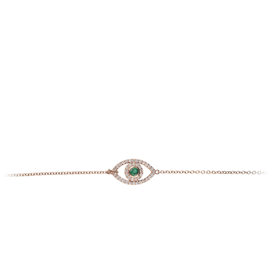 The5thC_Bracelets_Evil Eye_18k rose gold diamond round brilliant diamonds