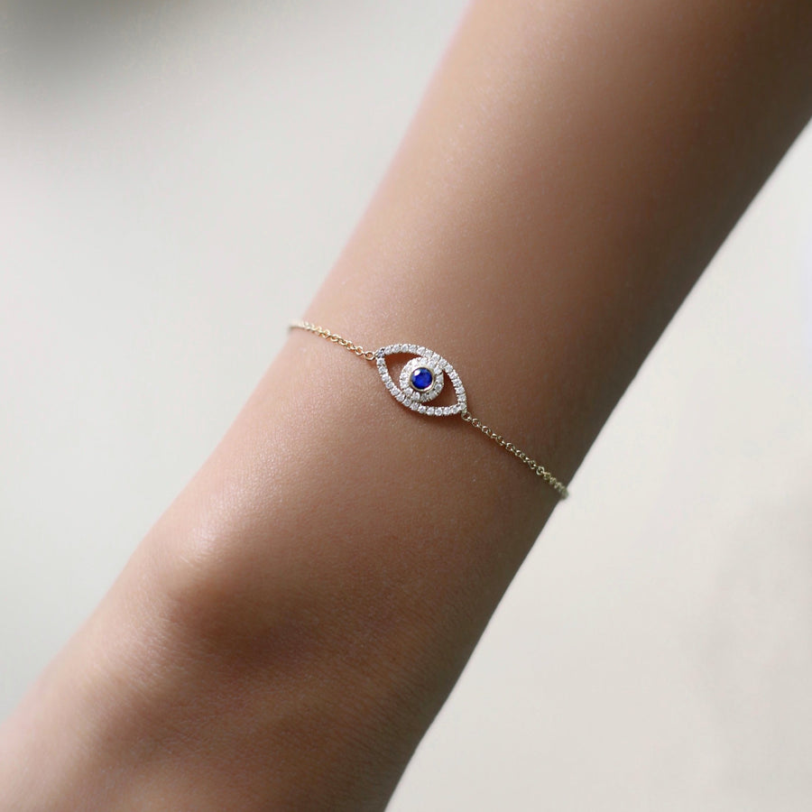 The5thC_Bracelets_Evil Eye_18k yellow gold diamond round brilliant diamonds