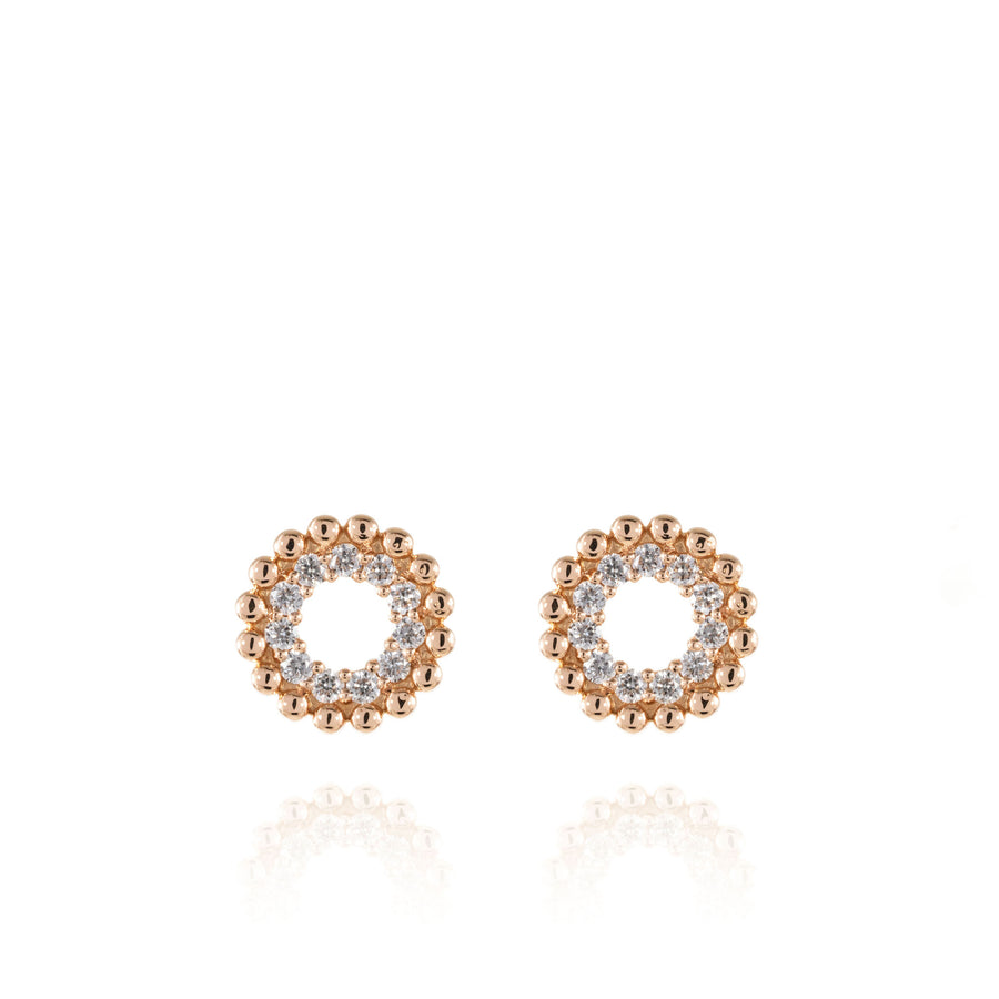 The5thC_Earrings_Stephanie_18k rose gold diamond round brilliant diamonds